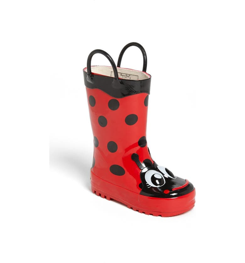 WESTERN CHIEF Ladybug Waterproof Rain Boot, Main, color, RED