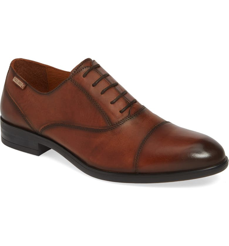 PIKOLINOS Bristol Cap Toe Oxford, Main, color, CUERO
