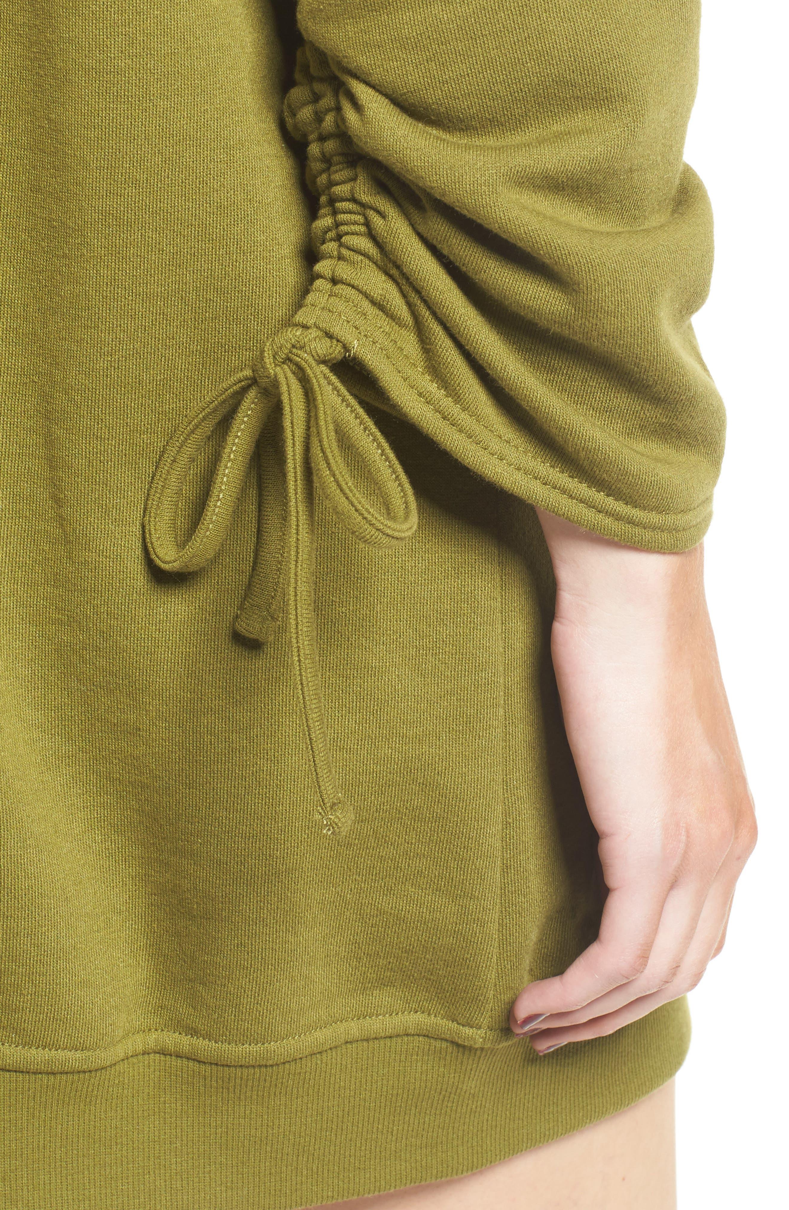 ,                             Ruched Sleeve Sweatshirt Dress,                             Alternate thumbnail 10, color,                             300