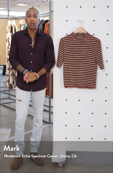 Dalston Stripe Mock Neck Sweater, sales video thumbnail