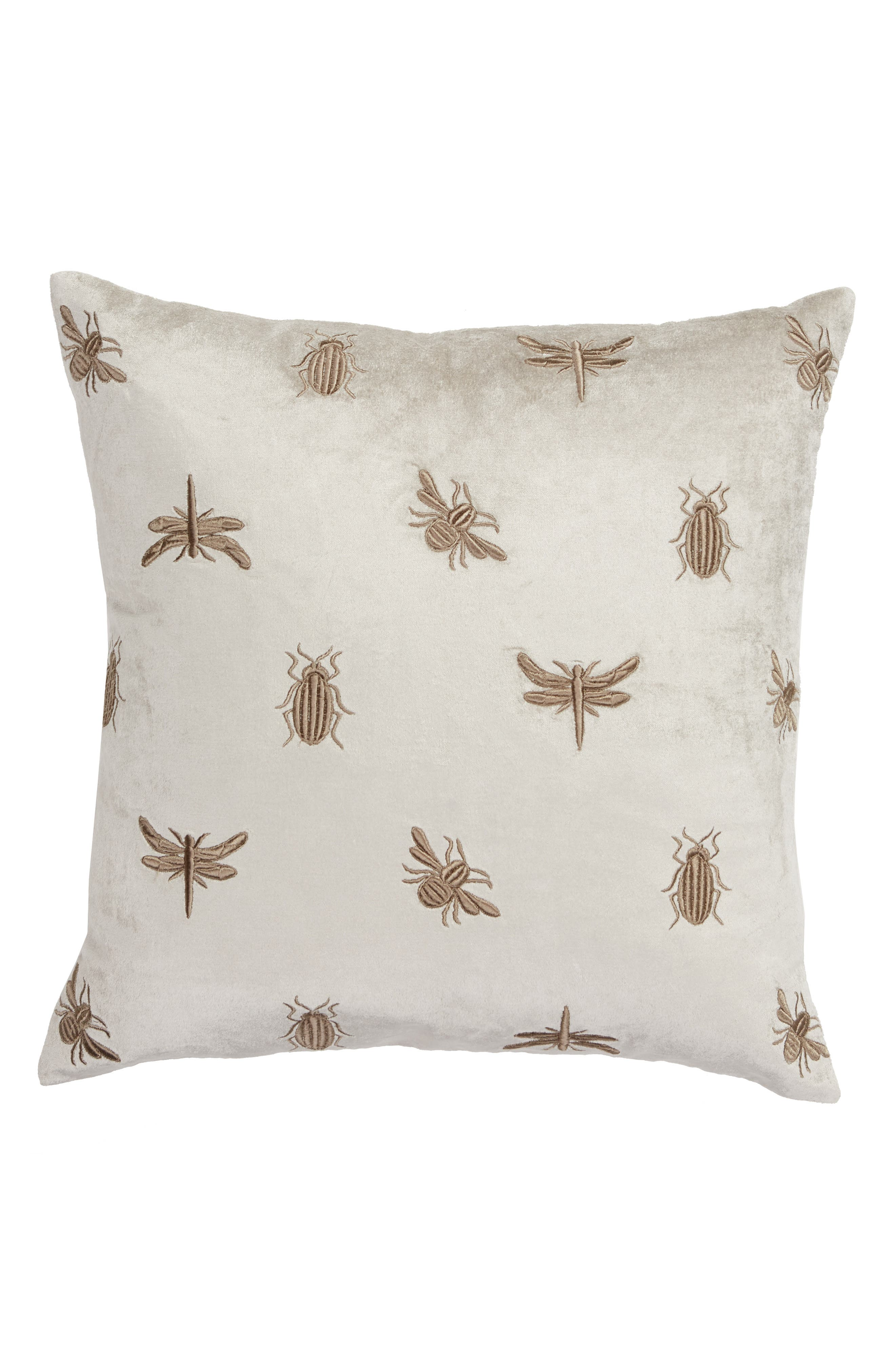 ,                             Beastie Embroidered Velvet Accent Pillow,                             Main thumbnail 1, color,                             020