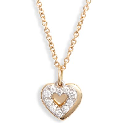 Bony Levy Icons Gold & Diamond Heart Pendant Necklace (Nordstrom Exclusive)