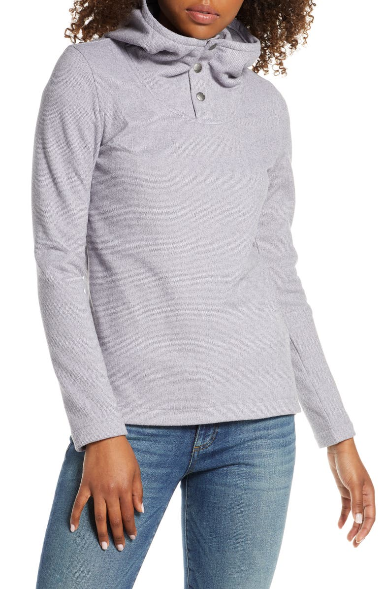THE NORTH FACE Knit Stitch Fleece Hoodie, Main, color, MINIMAL GREY HEATHER