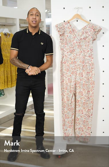 Falaise Floral Cotton Jumpsuit, sales video thumbnail