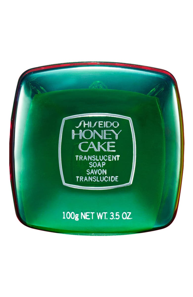 SHISEIDO 'Honey Cake' Translucent Soap, Main, color, GREEN