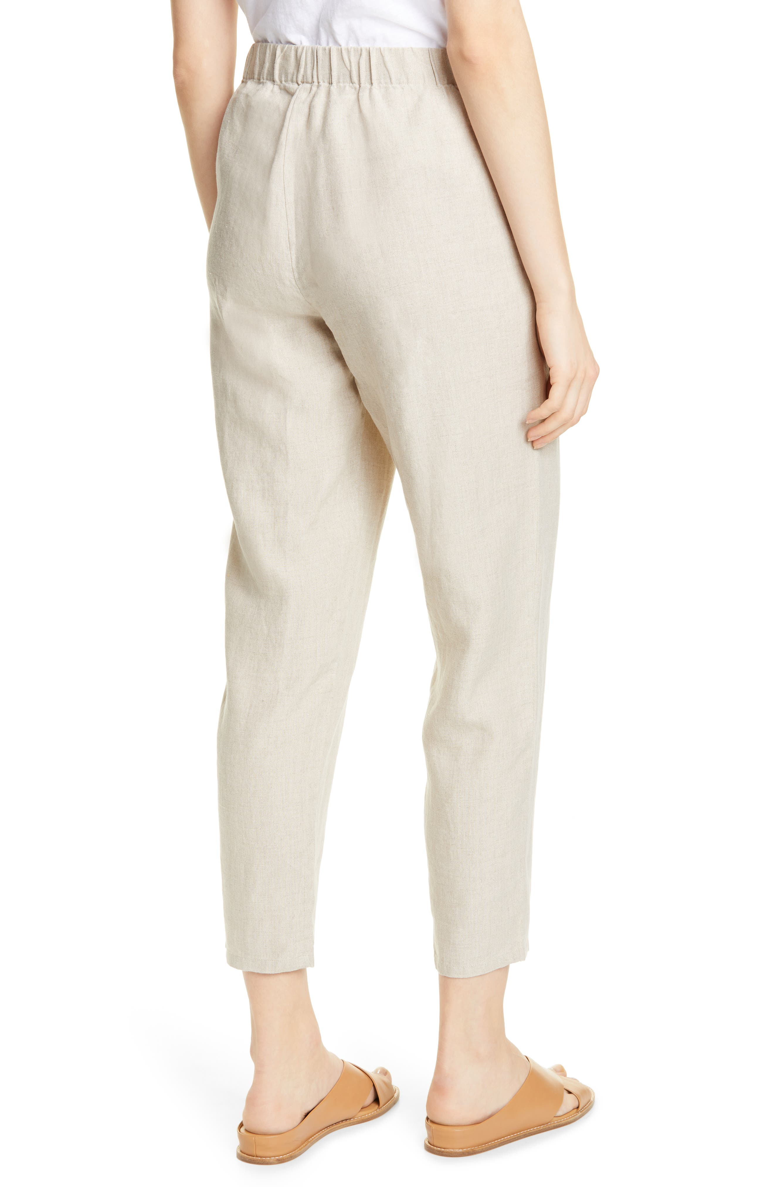 ,                             Tapered Linen Ankle Pants,                             Alternate thumbnail 2, color,                             UNDYED NATURAL