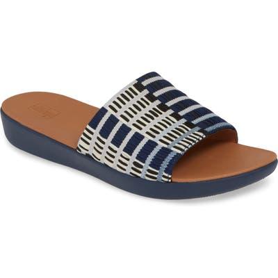 Fitflop Sola Art Denim Slide Sandal, Blue