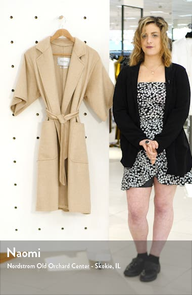 Ruta Double Face Cashmere & Camel Hair Wrap Coat, sales video thumbnail