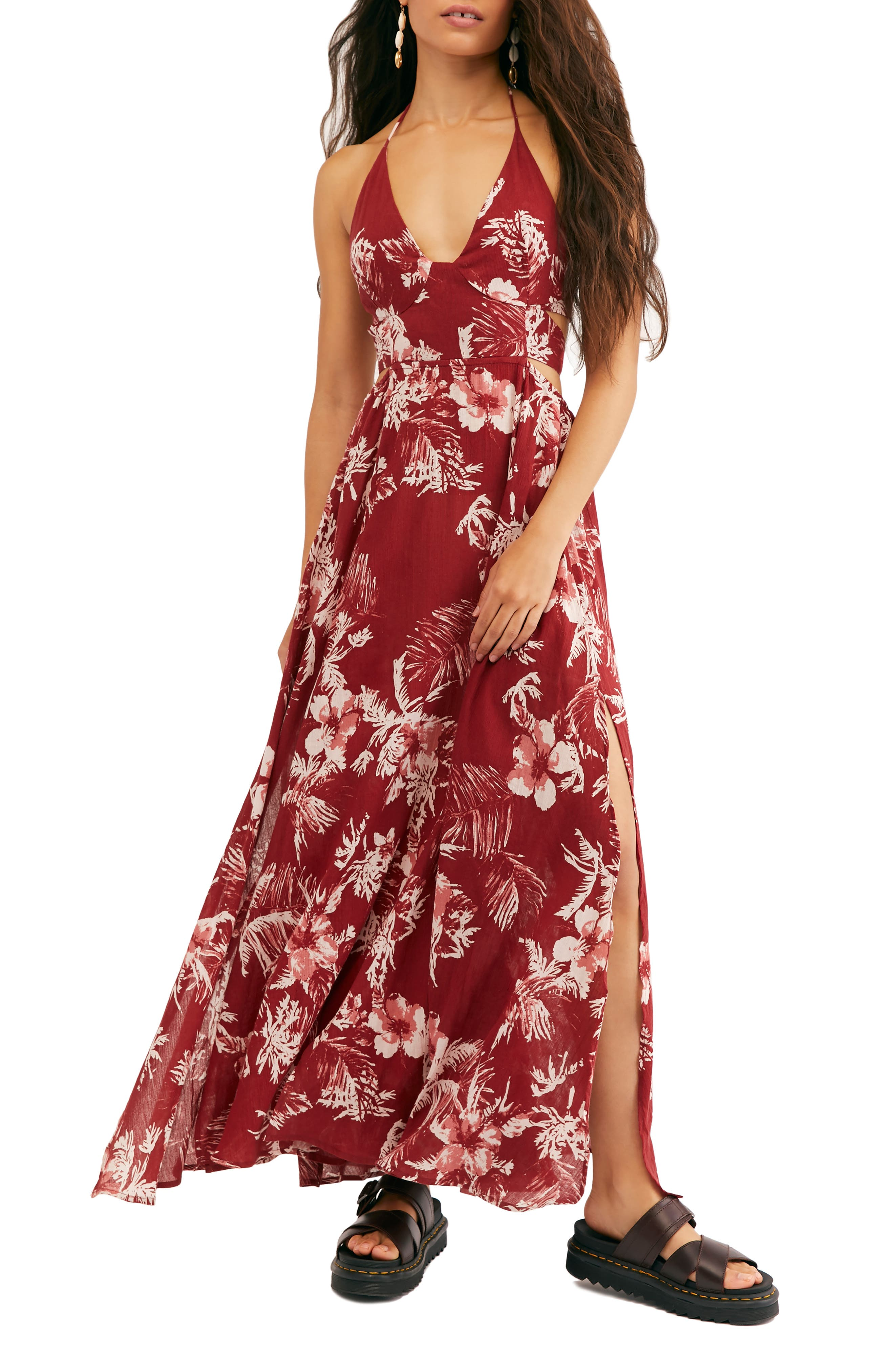 Free People Lille Print Maxi Dress, Red