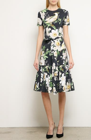 Floral Print Stretch Cotton Dress, video thumbnail