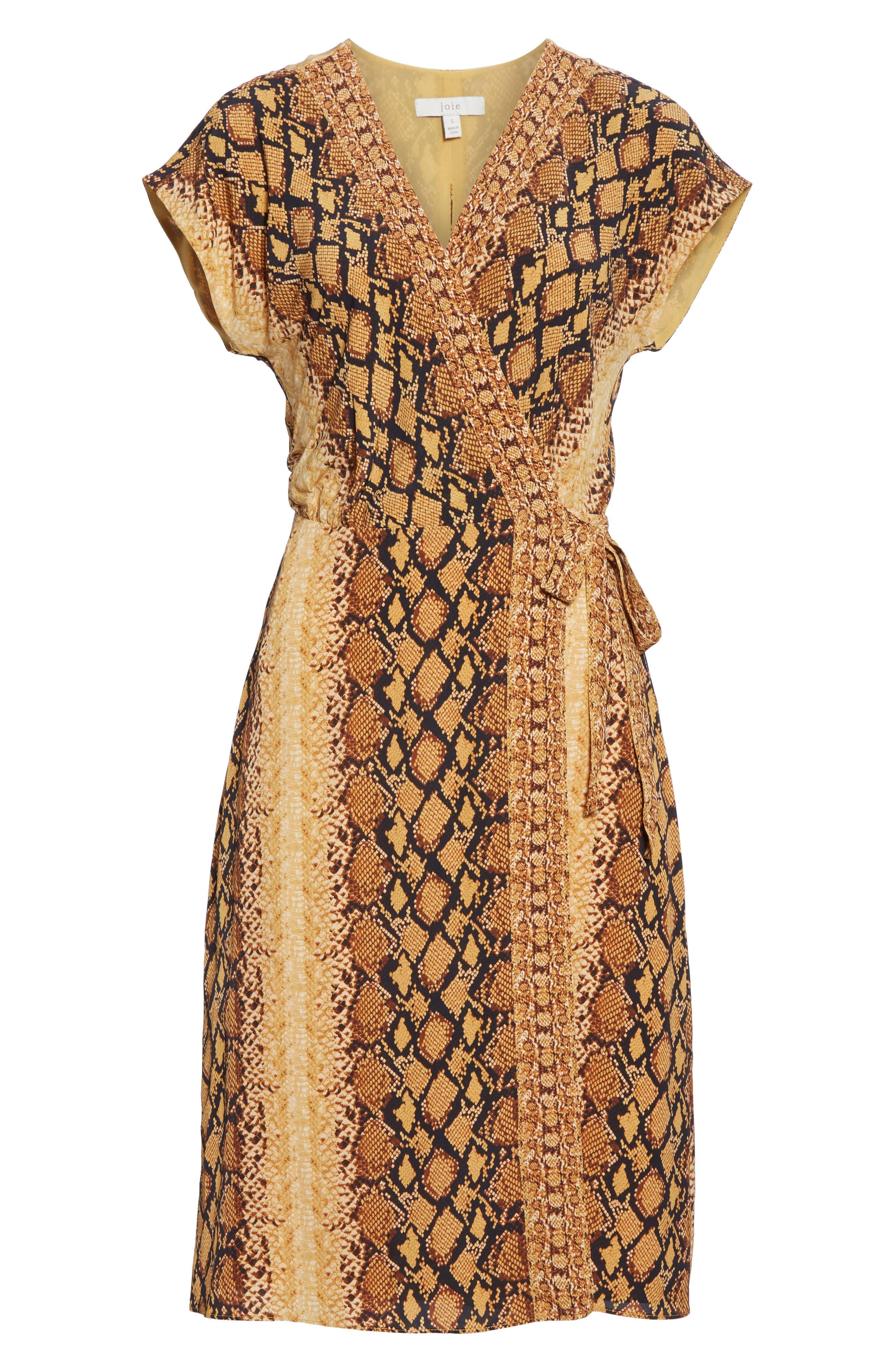 ,                             Bethwyn C Snakeskin Print Wrap Style Dress,                             Alternate thumbnail 7, color,                             720