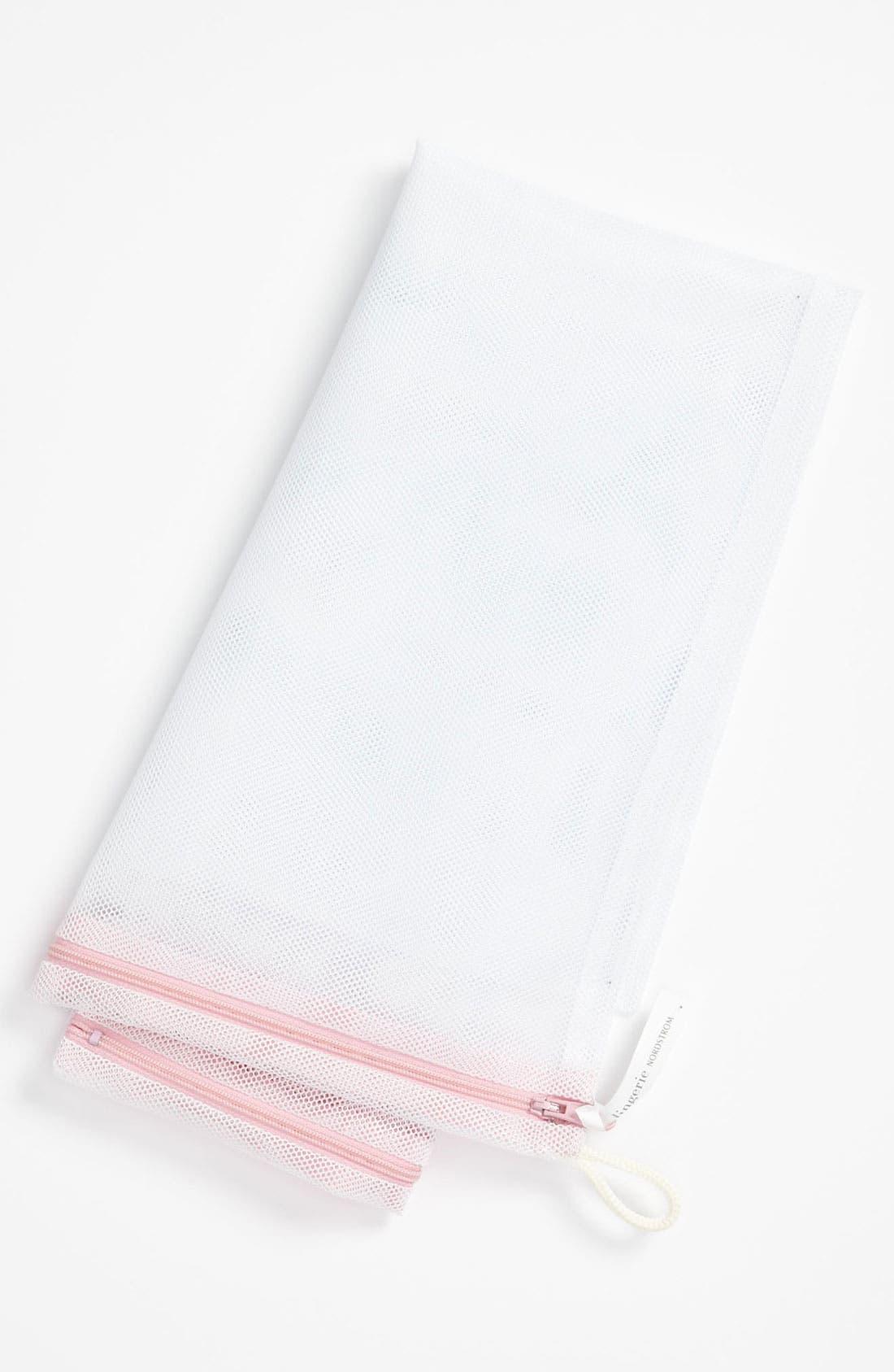 ,                             Large Lingerie Wash Bag,                             Alternate thumbnail 4, color,                             WHITE