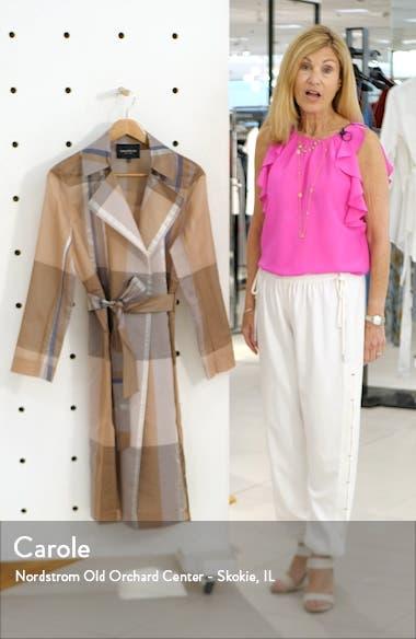Evangelina Pavilion Plaid Trench Coat, sales video thumbnail