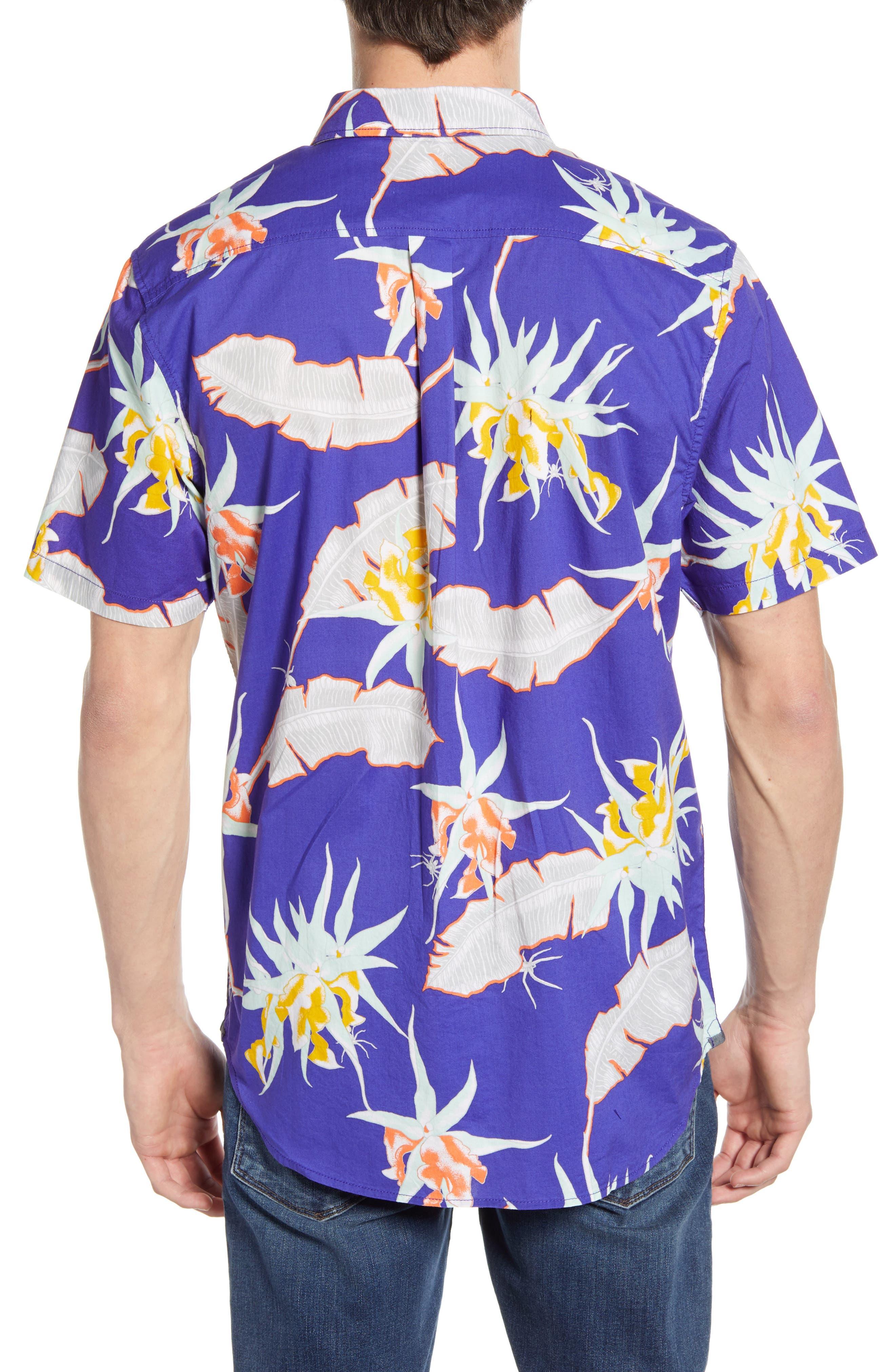 ,                             Arachnofloria Print Shirt,                             Alternate thumbnail 3, color,                             VANS PURPLE