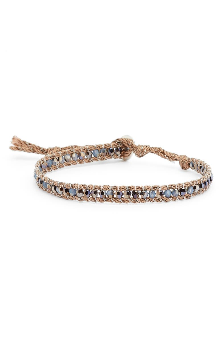 CHAN LUU Swarovski Crystal Single Wrap Bracelet, Main, color, 422