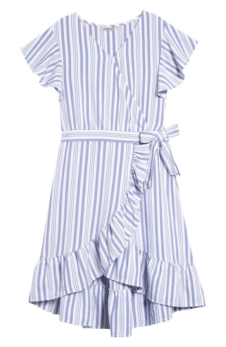 HABITUAL GIRL Habitual Shae Wrap Dress, Main, color, 401