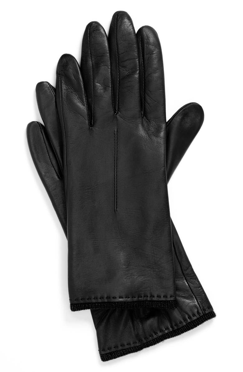 FOWNES BROTHERS Metisse Leather Glove, Main, color, 001