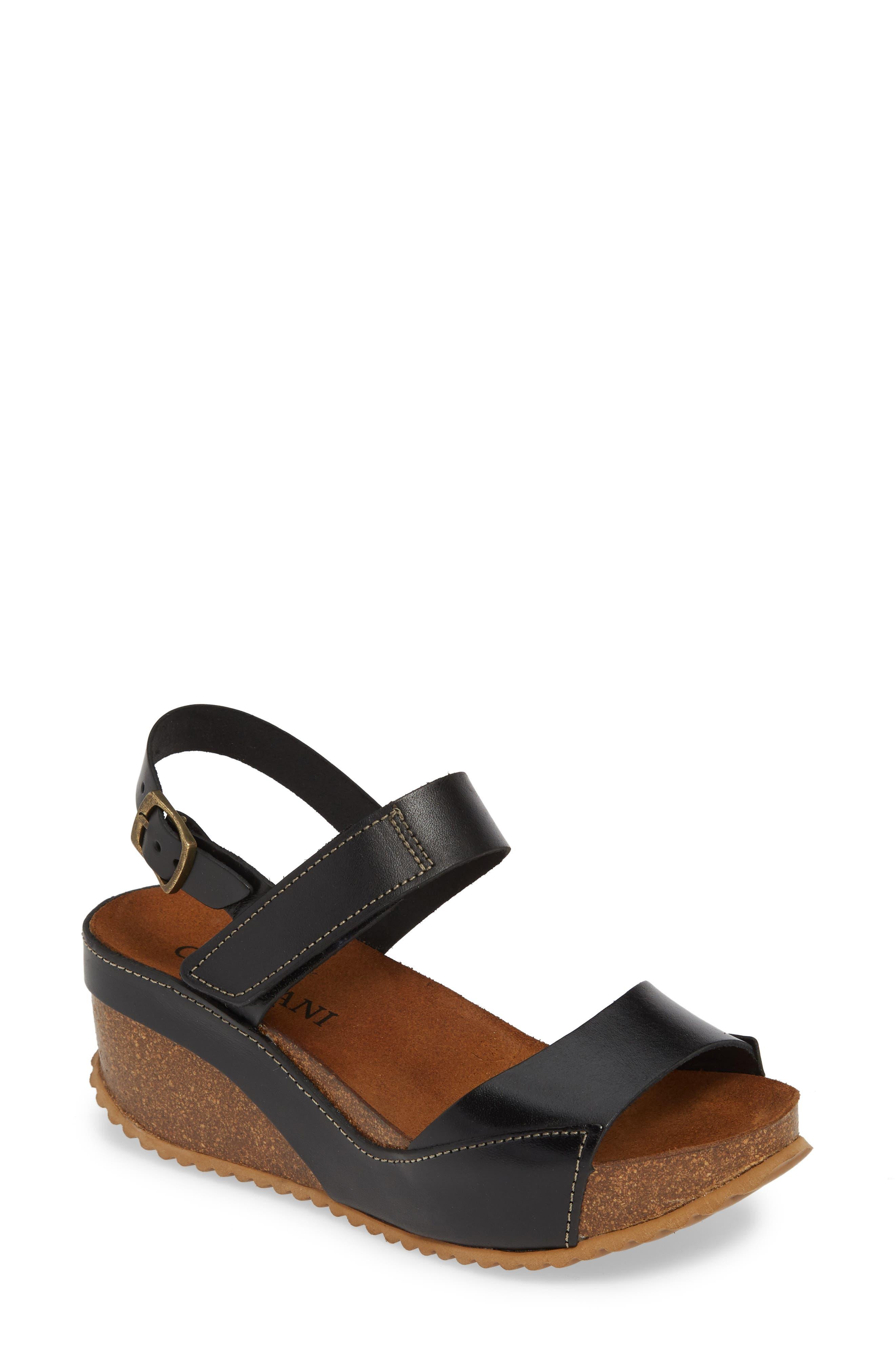 Cordani Marcelle Wedge Sandal - Black
