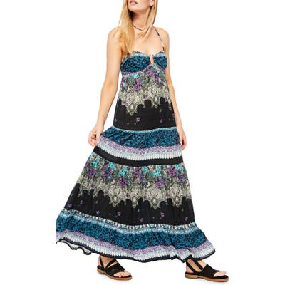 Free People Give A Little Sleeveless Maxi Dress, Black