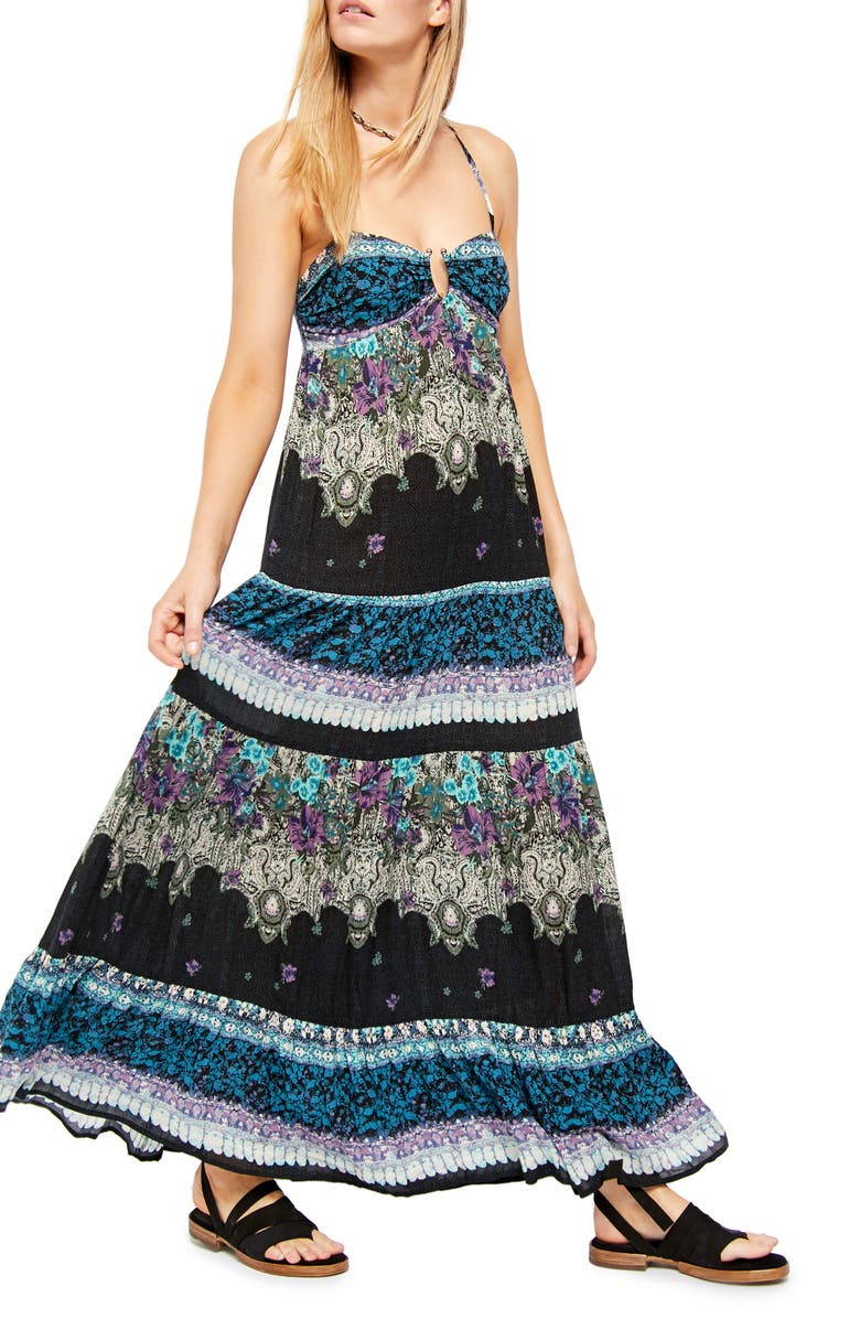 FREE PEOPLE Give a Little Sleeveless Maxi Dress, Main, color, BLACK
