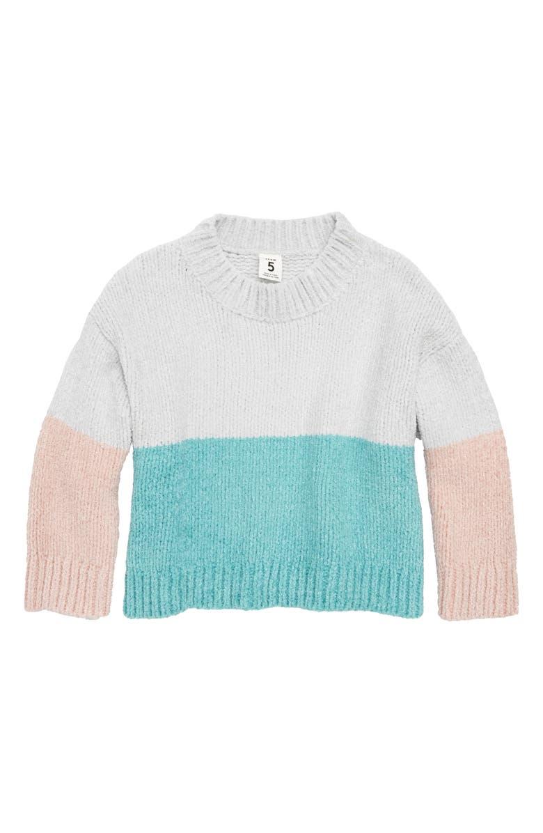 STEM Colorblock Pullover Sweater, Main, color, 050