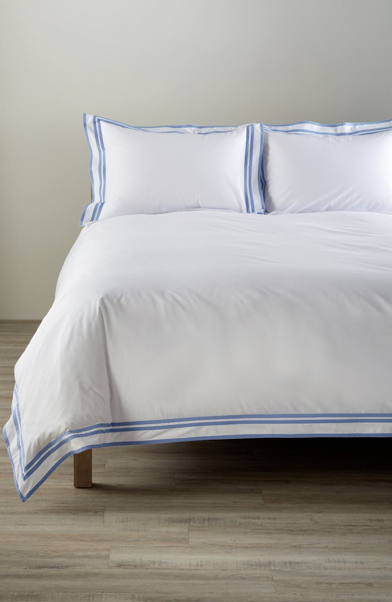 MATOUK Meridian 350 Thread Count Duvet Cover, Main, color, AZURE