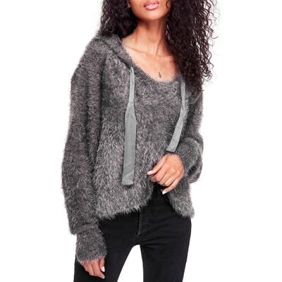 Free People Light As A Feather Hoodie, Grey