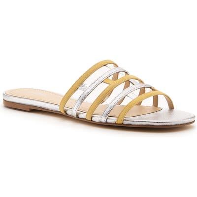 Botkier Strappy Slide Sandal- Metallic