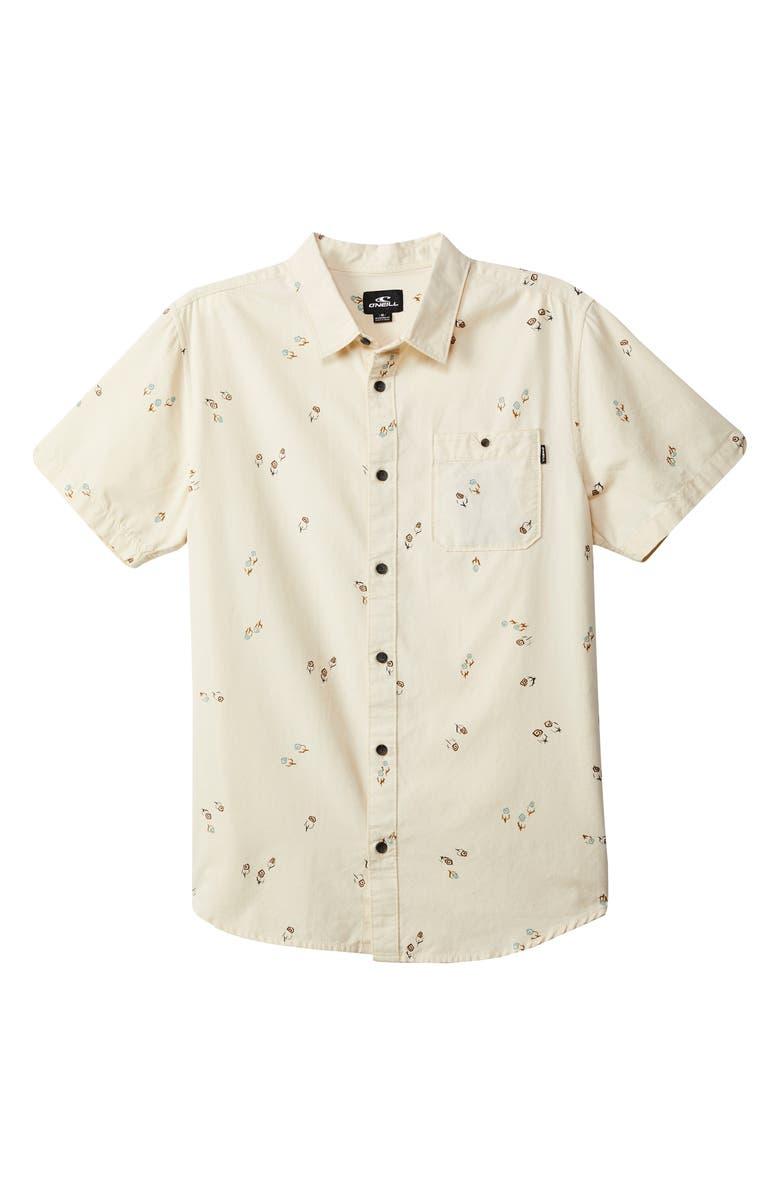 O'NEILL Freequency Print Shirt, Main, color, BONE