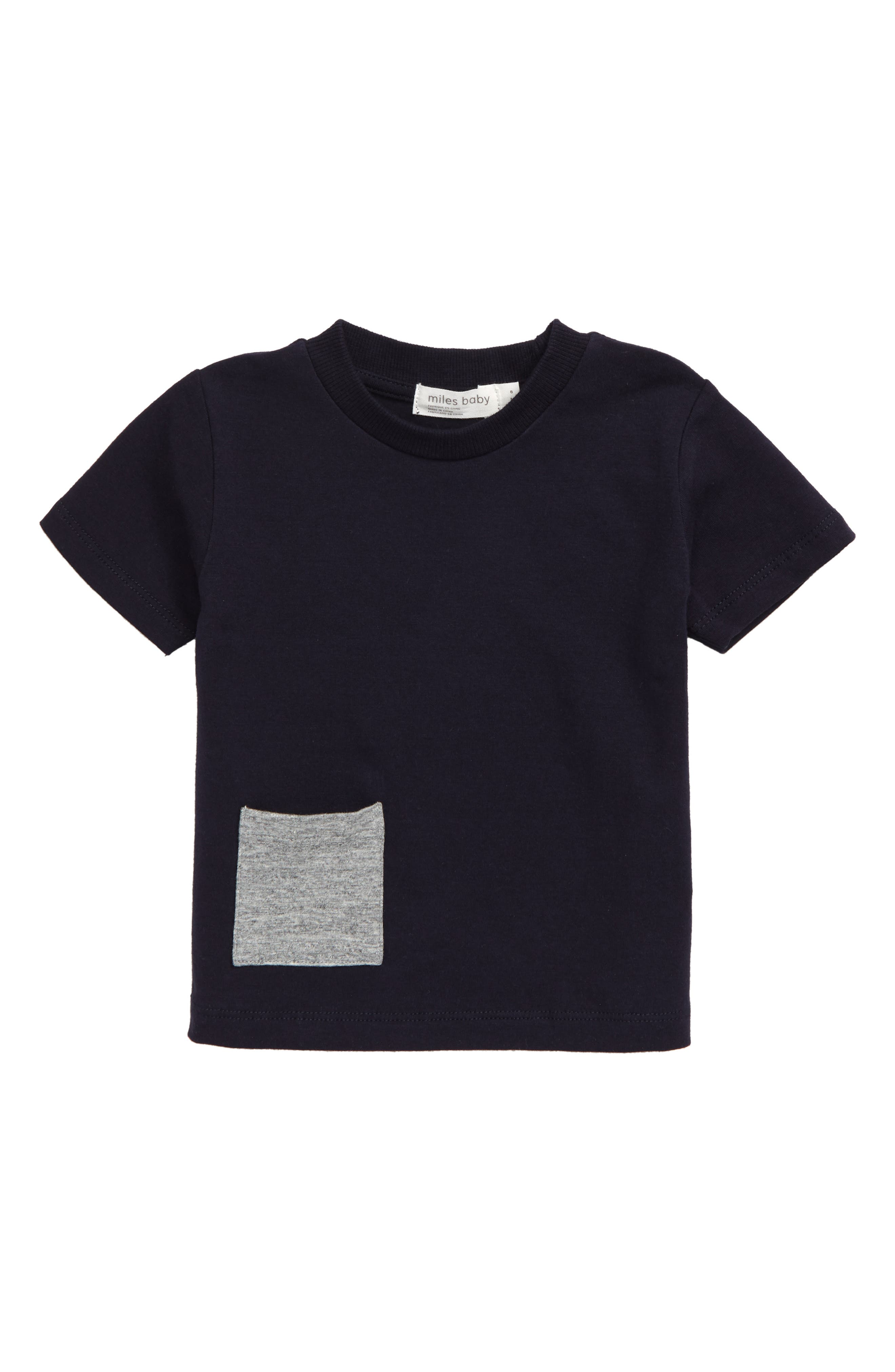 This classic crewneck featuring a contrast patch pocket is cut from soft, stretchy organic cotton and is an essential building block to any great wardrobe. Style Name: Miles Baby Stretch Organic Cotton T-Shirt (Baby). Style Number: 5886433 1. Available in stores.