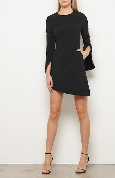 Asymmetrical Split Long Sleeve Dress, video thumbnail
