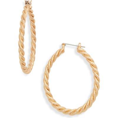 Bp. Twisted Oval Hoop Earrings