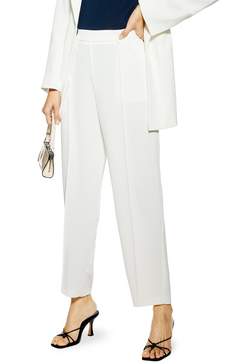 TOPSHOP Slouch Trousers, Main, color, 100