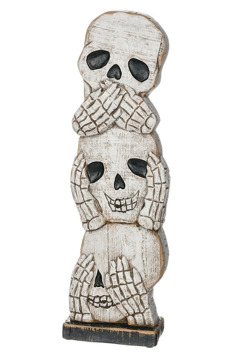 SULLIVANS 'See No Evil, Hear No Evil, Speak No Evil' Skull Decoration, Main, color, 100