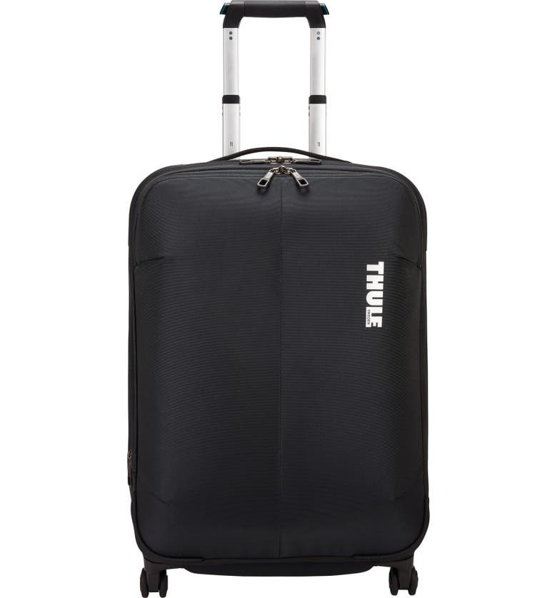 THULE Subterra 25-Inch Expandable Spinner Suitcase, Main, color, BLACK