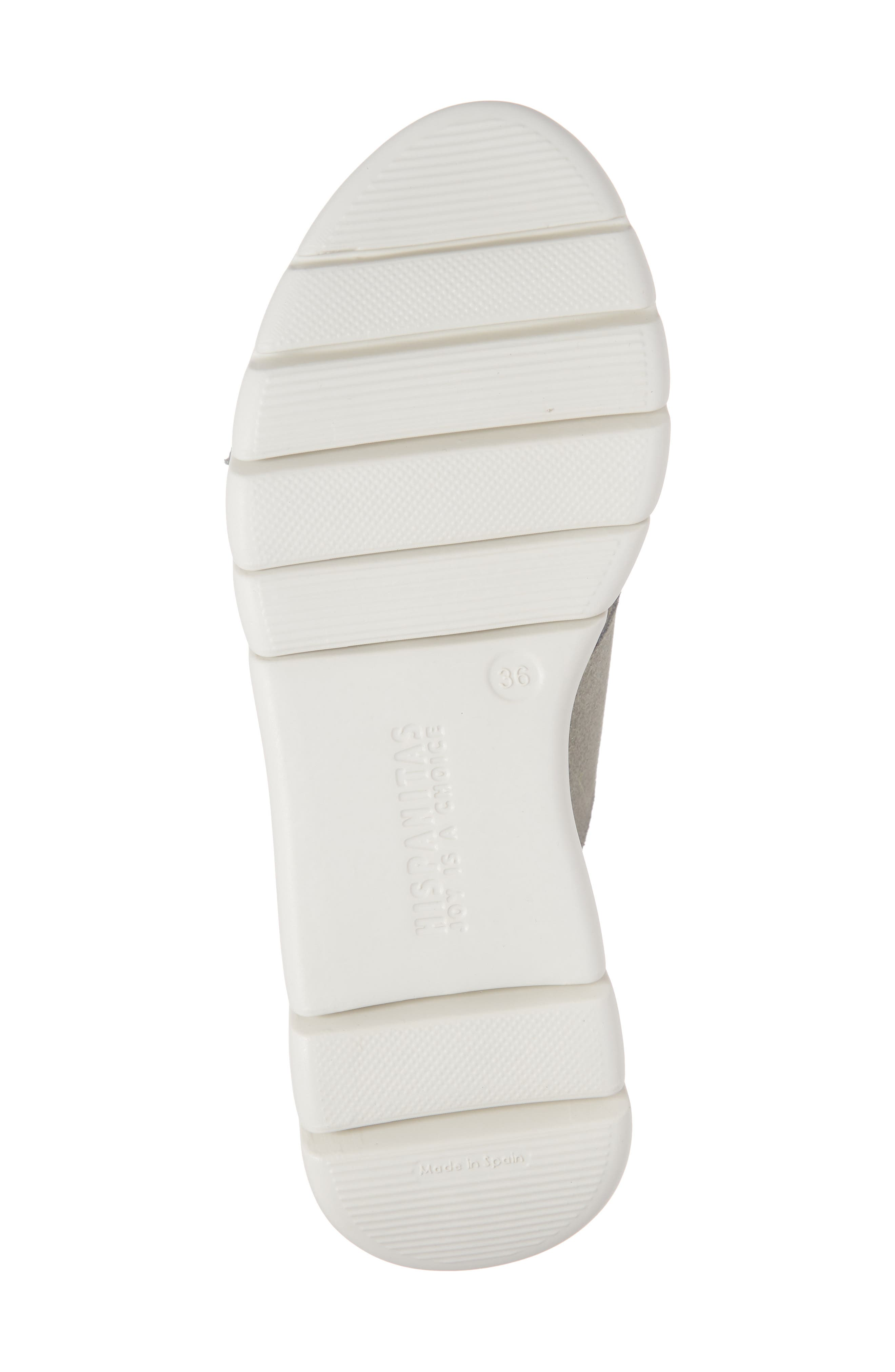 ,                             Magna Wedge Slide Sandal,                             Alternate thumbnail 6, color,                             WHITE FABRIC