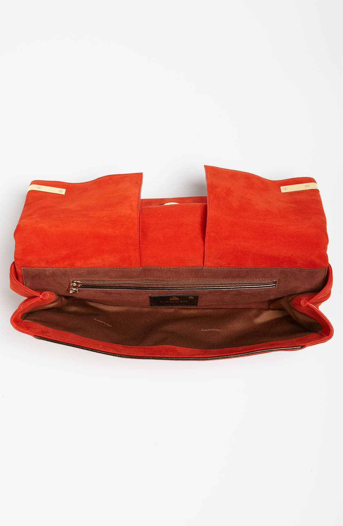 ,                             Leather Clutch,                             Alternate thumbnail 3, color,                             600