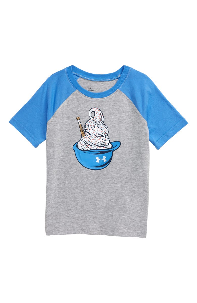 UNDER ARMOUR HeatGear<sup>®</sup> Baseball Ice Cream Graphic Tee, Main, color, MOD GRAY
