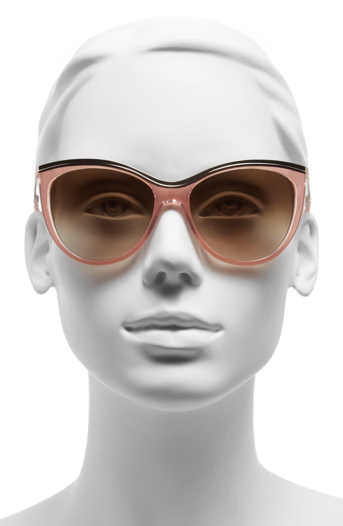 ,                             56mm cat eye sunglasses,                             Alternate thumbnail 6, color,                             201