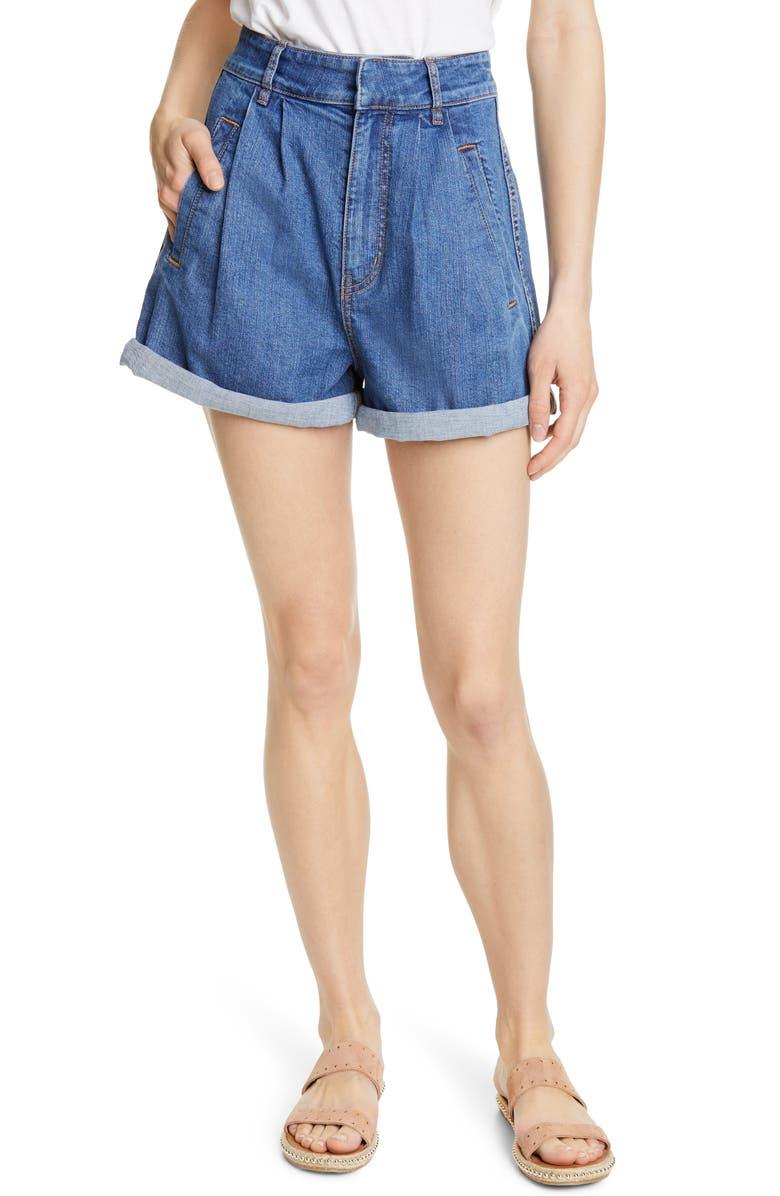 JOIE Idalya Denim Shorts, Main, color, 400