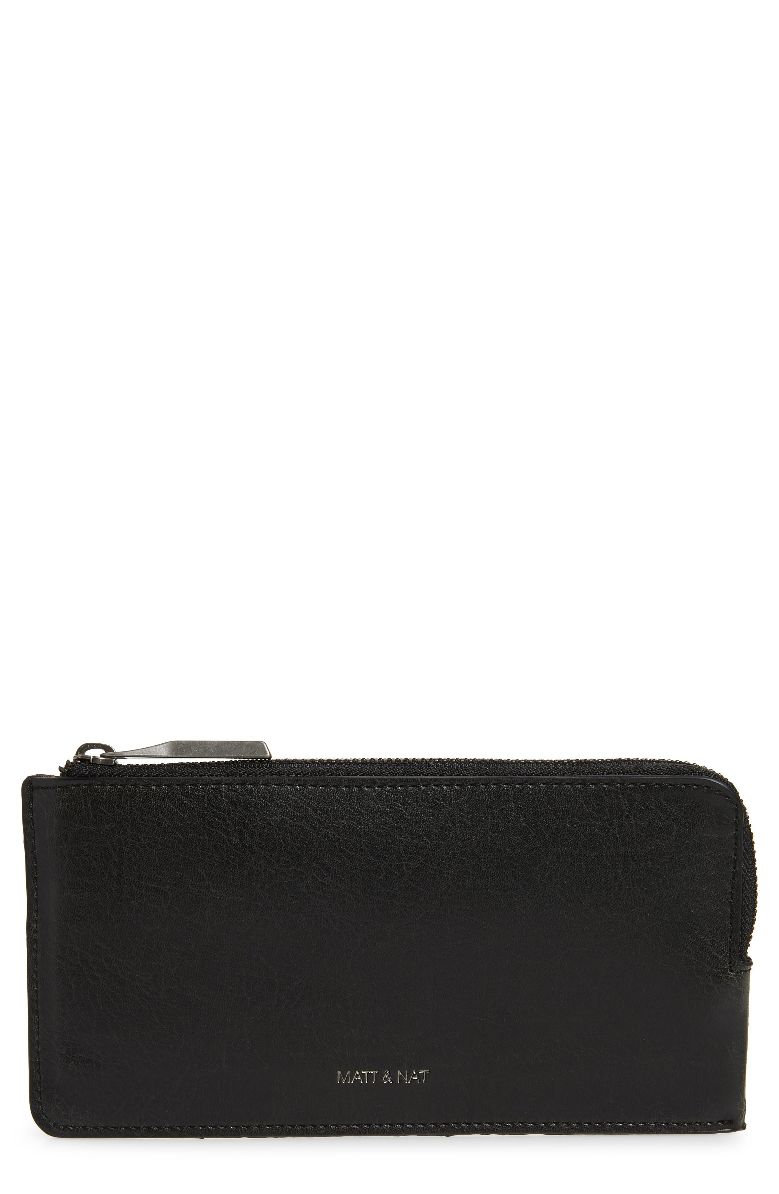 Matt & Nat Seva Faux Leather Pouch Wallet - Black