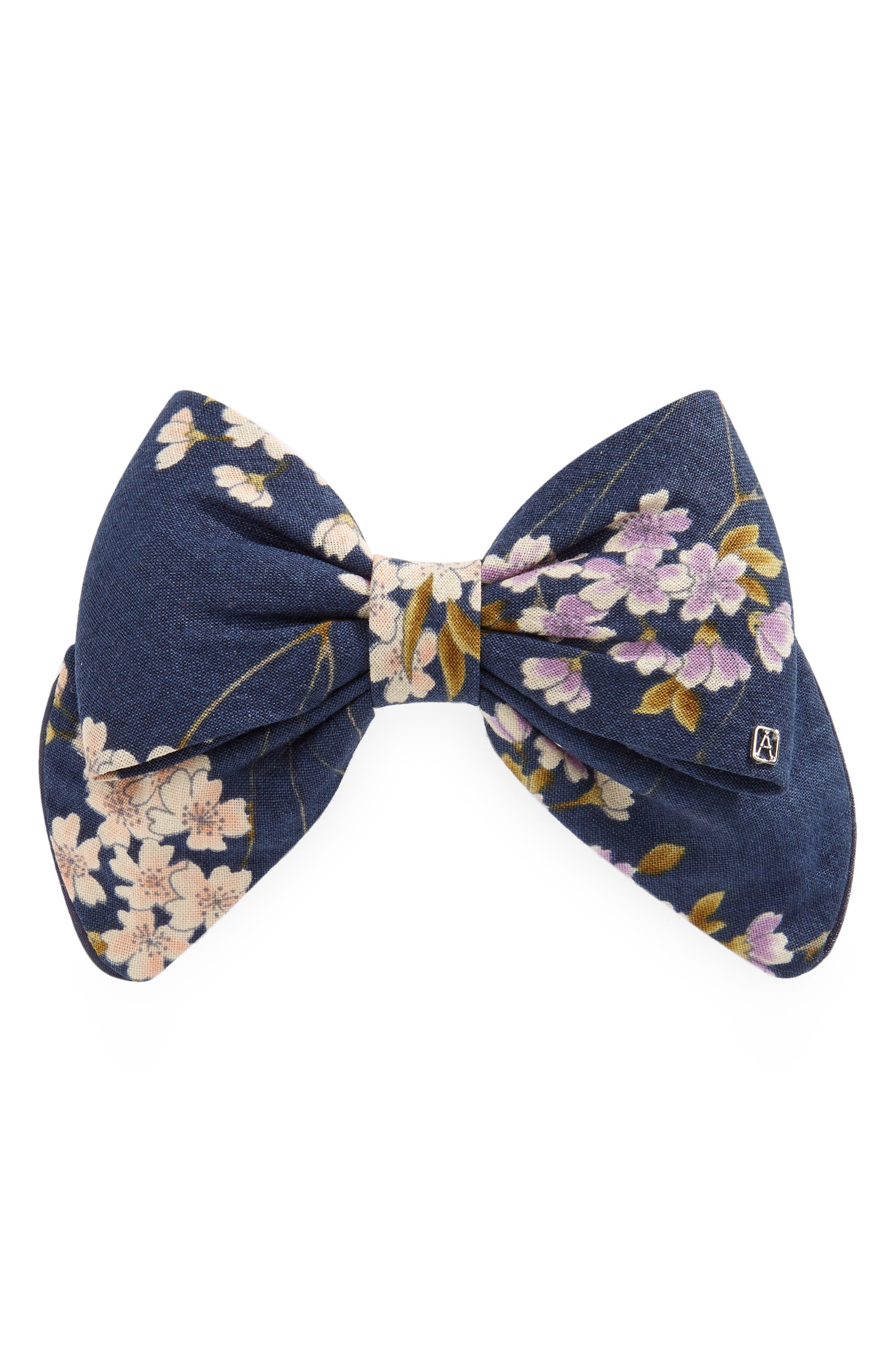 Floral Print Bow Clip