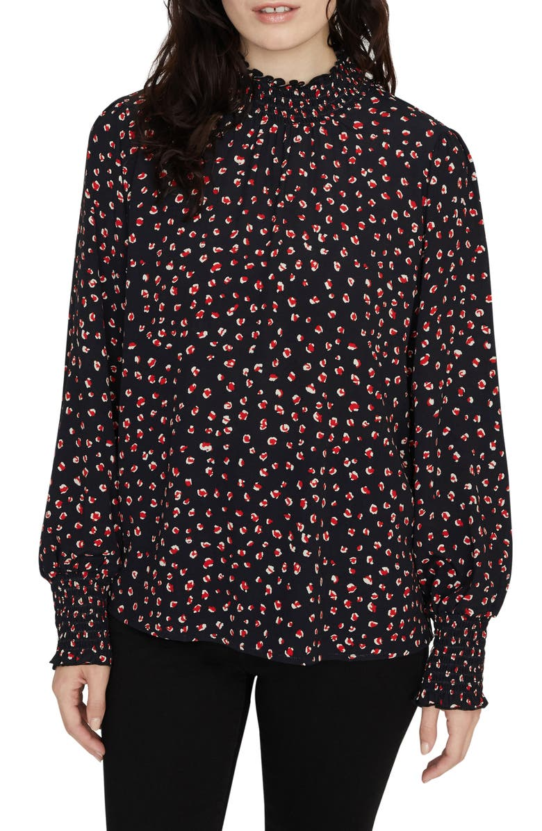 SANCTUARY Carrie Smock Blouse, Main, color, RED PARTY POP