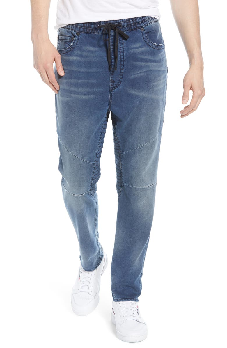 TRUE RELIGION BRAND JEANS True Religion Marco Runner Relaxed Jogger Jeans, Main, color, BRIGHT REFLECTION