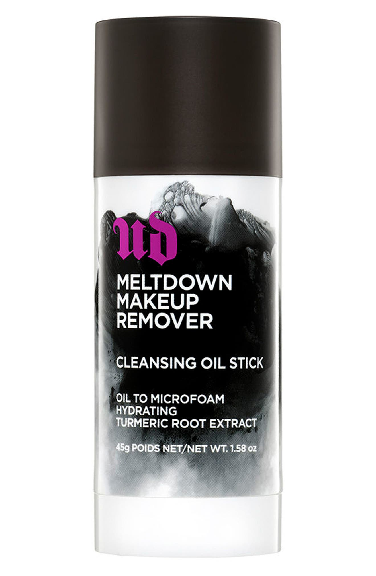 What it is: You can\\\'t get enough of Urban Decay\\\'s long-lasting products, but how do you take them off? With Meltdown Makeup Remover Cleansing Oil Stick. What it does: Formulated to easily remove even the most stubborn waterproof makeup, this cleansing oil stick is as powerful as it is gentle. Non-irritating, nourishing ingredients leave skin clean, refreshed and without a trace of makeup. Meltdown hydrates, yet never leaves a greasy residue.