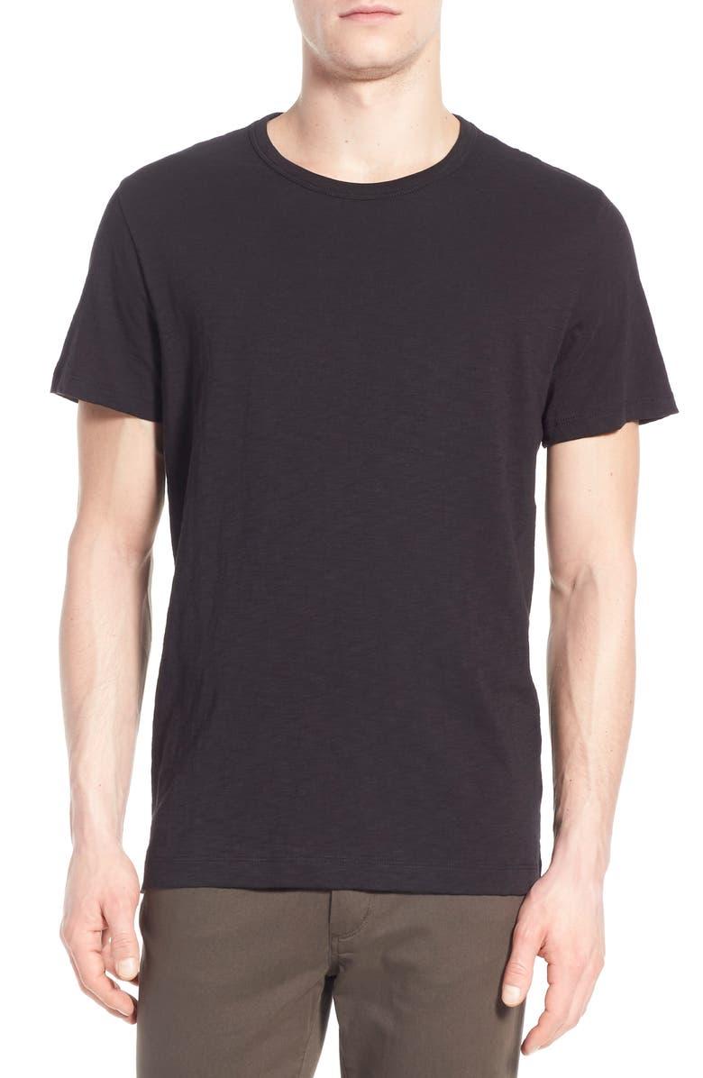 VINCE Slub Slim Fit Crewneck T-Shirt, Main, color, BLACK