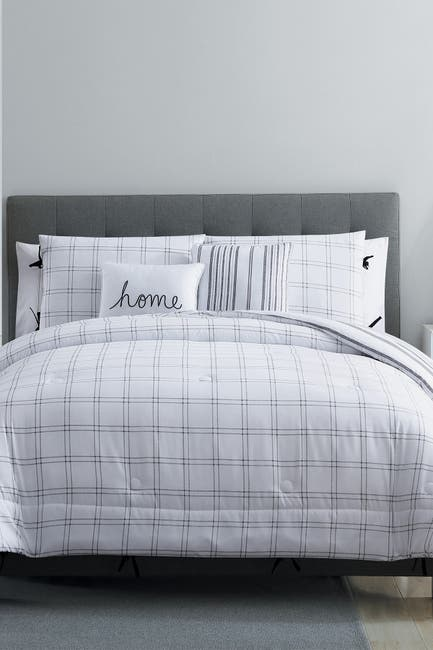Image of VCNY HOME Twin XL Farmhouse Princeton Comforter Set - White/Grey