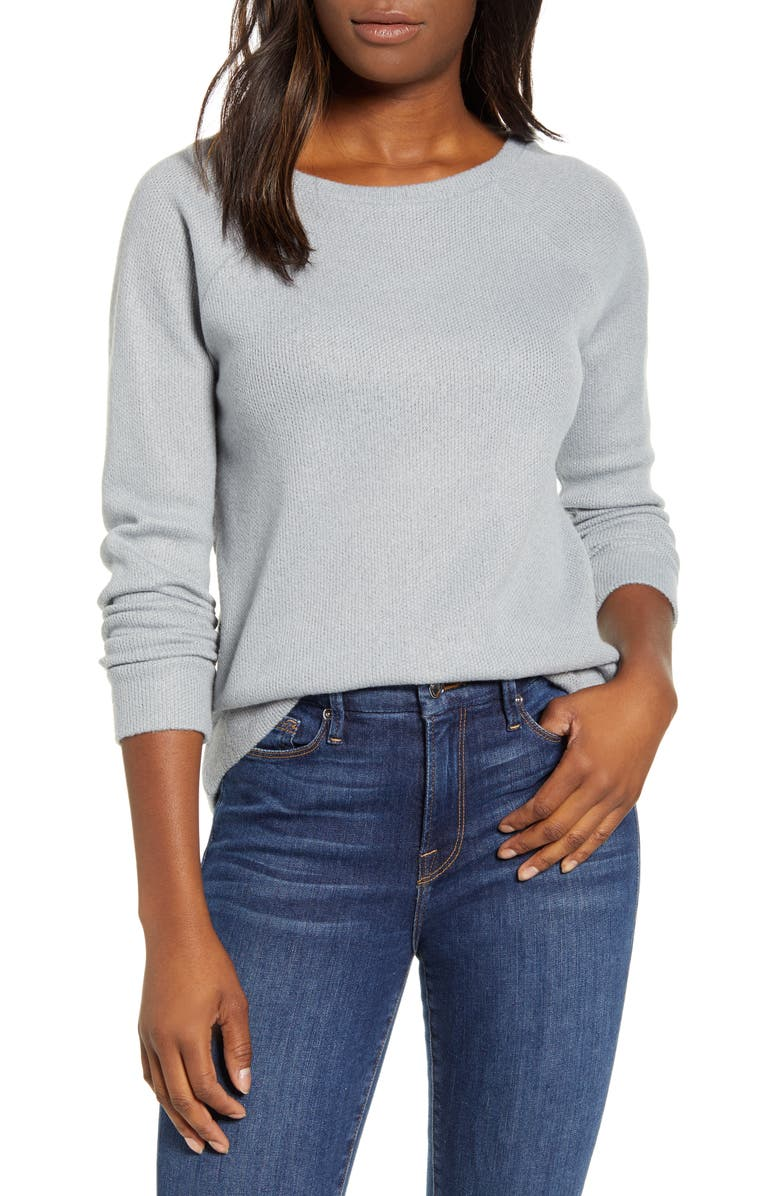CASLON<SUP>®</SUP> Knit Pullover, Main, color, GREY SLEET