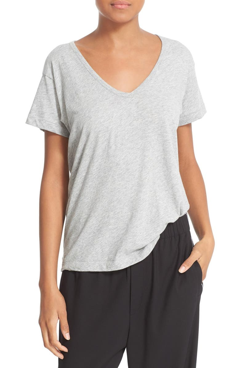 VINCE Relaxed V-Neck Tee, Main, color, 020