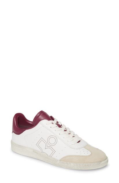 Isabel Marant Bryce Low Top Sneaker In White/ Purple